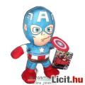 Eladó 22cmes Marvel Bosszúállók - Amerika Kapitány plüss játék figura - Captain America Avengers játék fig