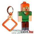Eladó 5-6cmes Minecraft Alex figura - mozgatható minifigura + rárakható kulcstartó, csom. nélkül