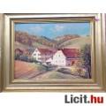 Eladó Balzenbach vidéki tájkép Falusi házakkal, Fr. Sihier Német festő munká