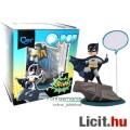 10cmes Batman figura - Klasszikus TV megjelenéssel, talapzattal és szövegbuborékkal - QMx Q-POP Q-fi