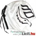 Eladó felvehető Pankráció / Pankrátor Maszk - fehér Rey Mysterio maszk fekete díszítéssel - szövetből, fűz