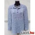 **m.collection Kék-fehér cirmos garbó pulóver 44-es