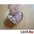 Eladó Álomszép egyedi Muránói üveg pink virágos medál nyaklánccal Vadonatúj!