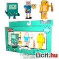 Eladó 3db Adventure Time / Kalandra Fel figura - Finn, Jake kutya és BMO / Zizgő mozgatható pixel figurák