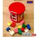 Fa logikai játék gyerekeknek, képességfejlesztő ovisoknak, tipegőknek