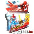 Pókember figura - 10cm-es Pókember / Spider-man páncélos karral és fegyverrel - Marvel Szuperhős fig