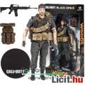 Eladó 14-16cmes Call of Duty katona figura - Frank Woods Black Ops kommandós figura gépfegyverrel - McFarl