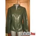 Eladó olivazöld műbőr női kabát,méret: 40