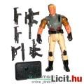 Eladó GI Joe figura - Duke figura V13 géppisztolyokkal plusz fegyverekkel és talppal - Hasbro - csom. nélk