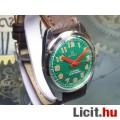 Eladó Svájci mechanikus felhúzós felújított ROAMER férfi karóra zöld számlap