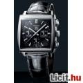 Eladó Tag Heuer Monaco fekete bőrszíjas automata óra eladó b3a142182e
