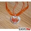 Eladó Álomszép egyedi Muránói üveg narancs virágos medál nyaklánccal Vadiúj