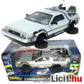 Eladó 1:24 Back To The Future 2 De Lorean autó modell repüléshez lehajtható kerekekkel - 17cm hosszú Vissz