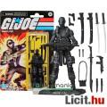 Eladó 10cm-es GI Joe / G.I. Joe Retro Collection figura - Snake Eyes ninja kommandós rengeteg fegyverrel,