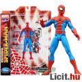 Eladó 16-18cm-es Marvel Select Pókember figura Spectacular Spider-Man cserélhető Peter Parker fejjel, fény
