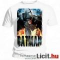 Eladó eredeti Batman póló - felnőtt S méret - hivatalos Dark Knight / Sötét Lovag póló nagy színes mintáva