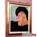 Eladó Szőkeség feketében, Balogh Irén kortárs művész alkotása, üvegezett ker