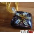 Eladó Álomszép egyedi Muránói üveg arany virágos medál nyaklánccal Vadiúj