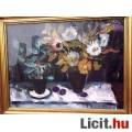 Eladó Csendélet az őszi vírágok színeivel, Balogh Ervin képcsarnokos műve 19