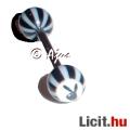 Eladó Szexi egyedi fekete PLAYBOY nyelv piercing 16 mm - Vadonatúj!