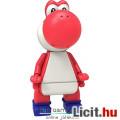 Eladó KNex Nintendo Super Mario figura - Red Yoshi dínó minifigura 4-5-es mozgatható, kompatibilis figura,