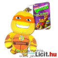 Eladó Tini Nindzsa Teknőcök - 13cm-es Michelangelo plüss figura hangeffekttel - Nickelodeon TMNT Ninja Tek