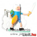 Eladó Adventure Time / Kalandra Fel 5-6cm mini figura - Finn karddal és pajzzsal és alátehető talapzattal