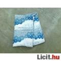 Eladó Kék virágos sötétítő függöny 2 db