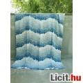Kék virágos sötétítő függöny 2 db