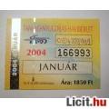 Eladó BKV Havibérlet (T.,Ny.) 2004 Január (Gyűjteménybe) (2képpel :)