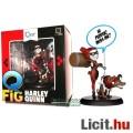 10cmes Batman - Harley Quinn figura kalapáccsal, szövegbuborékkal és hiénakutyával - QMx Q-fig karik