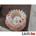 Üvegkristály karkötő csiszolt rondell gyönyörű!