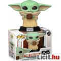 Eladó 10cmes Funko POP 378 Star Wars Mandalorian The Child / Baby Yoda figura - Cup / Bögrés / Tálkás verz