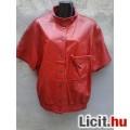 Eladó *BONETO Piros rövid ujjú bőr kabát 44-es