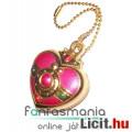 Eladó Sailor Moon / Holdtündér medál - 3cmes Szív amulett fügő fém Anime ékszer kulcstartó lánccal - Cosmi