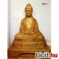 Eladó Meditáló Buddha, nagy méretű terrakotta szobor, egyedi ritkaság, 1977-