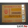 Eladó BKV Havibérlet (T.,Ny.) 2001 Június (Gyűjteménybe) (2képpel :)