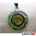 Eladó Különleges zöld jáde zodiákus disznó medál amulett 18 KGP Vadonatúj!