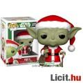 10cmes Funko POP Star Wars Yoda / Joda jedi figura Télapó / Mikulás karácsonyi ruhában - Csillagok H