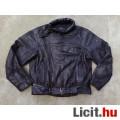 Eladó HeinGericke Fekete bőr motoros dzseki 54-es