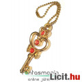 Eladó Sailor Moon / Holdtündér medál - 3cmes Hold Kulcs fügő fém Anime ékszer kulcstartó lánccal - Key of
