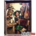 Eladó Muzsikusok, kocsmában játszó holland zenészcsapat portréja a XX.század