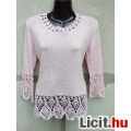 Eladó # BLUE SKY Rózsaszín hosszú ujjú kötött pulóver