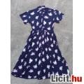 # Rövid ujjú rózsás maxi nyári ruha kb.44-es