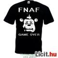 Eladó Five Nights at Freddys - új FNAF póló FNAF - GAME OVER Freddy póló fekete színben - gyerek S, M, L,