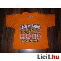 R. R. Roberts 6-12 hónaposra tündéri menő narancssárga póló