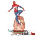 Eladó 18-25cmes Spider-Man PS4 Pókember szobor figura logós talapzaton - Marvel Bosszúállók / Avengers - D