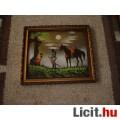 Selyemre festett kép 27X25 cm,keretezve,üveg alatt!