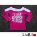 Eladó *Kikstar Pink-fehér feliratos hosszú ujjú lánypóló 152-es