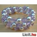 Eladó Formatartó lila kristály gyöngyös karkötő